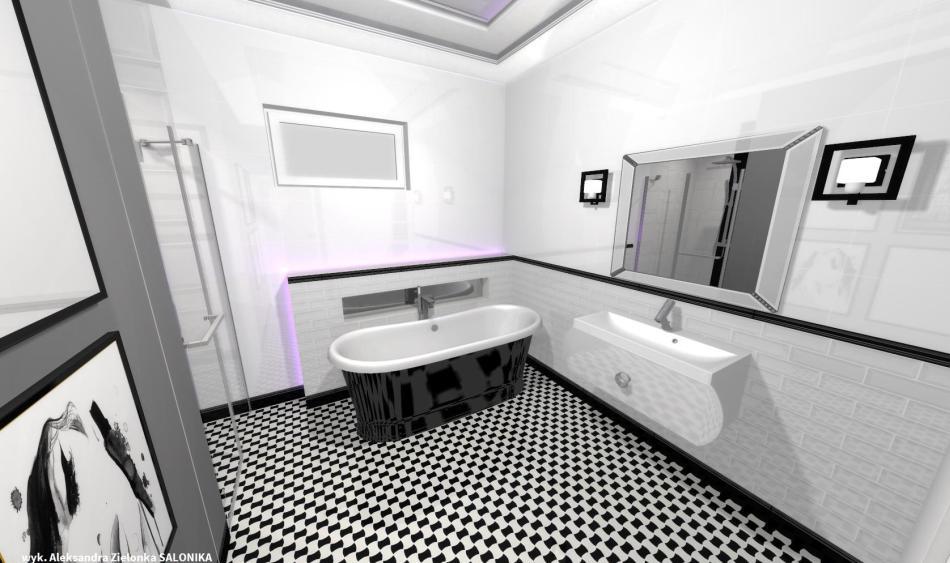 Salonika - projekt łazienki