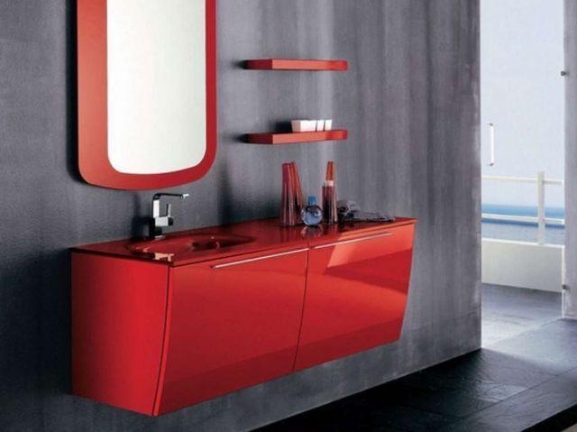 Meble łazienkowe Z Kolorowymi Frontami Meble I Akcesoria
