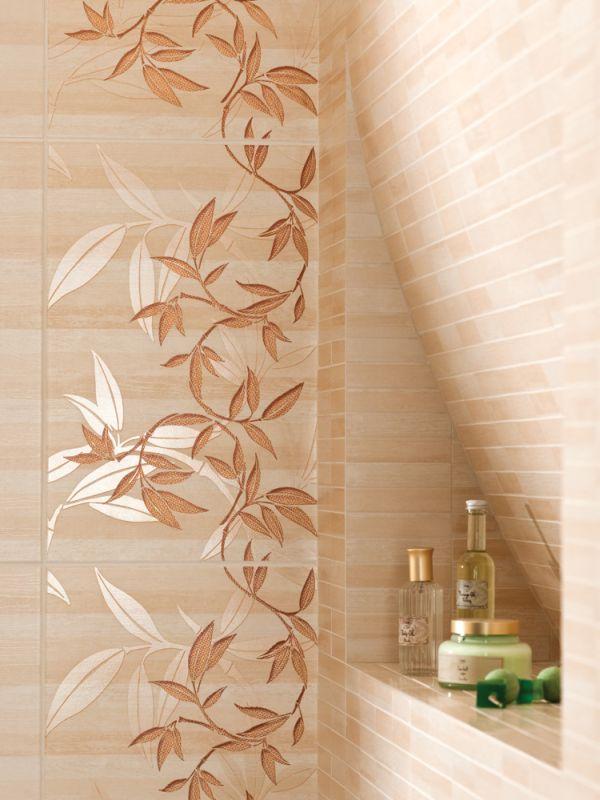 Dekory z kwiatami w łazience