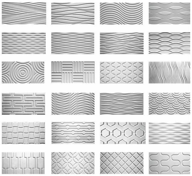 Dekoracyjne Panele ścienne Z Frezowanego Mdf 3d Podłogi I