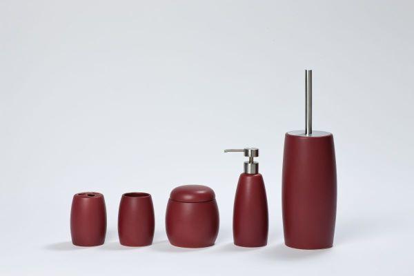 Coram - czerwone dodatki łazienkowe Coloris