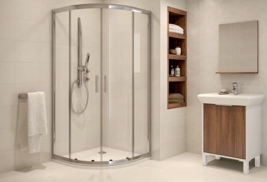 Drewniana półka w łazience