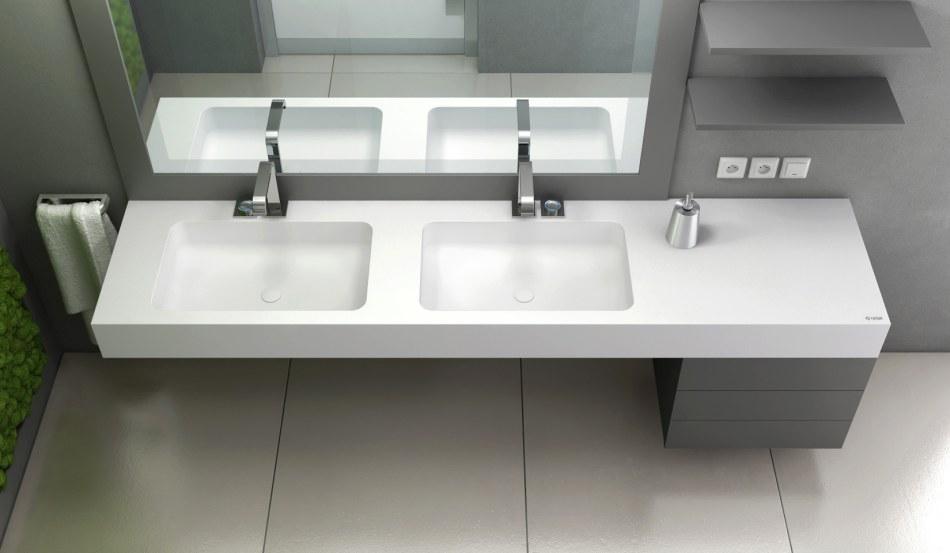 Luxum - umywalka zintegrowana z blatem