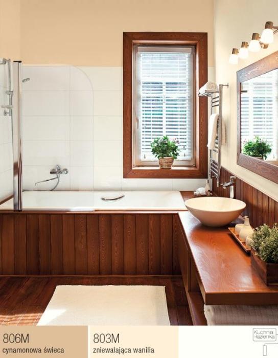 Śnieżka - farba Kuchnia-łazienka - Cynamonowa świeca, Zniewalająca wanilia