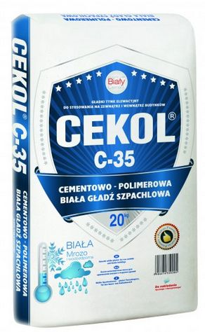 cementowo-polimerowa biała gładź szpachlowa CEKOL C-35