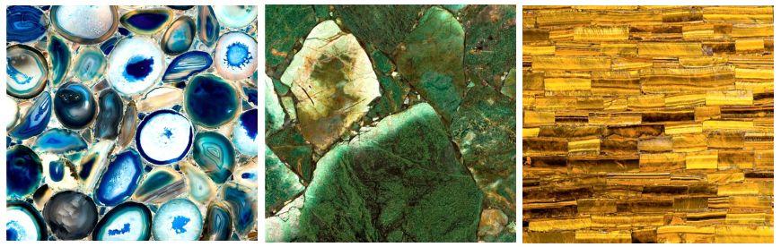 Płytki z kamieni półszlachetnych
