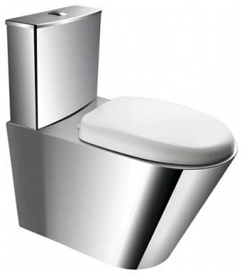 kompakt wc stojący z deską pvc ze stali nierdzewnej matowa