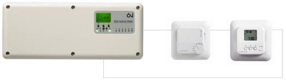 Luxbud - termostat LTEnp-19 z czujnikiem powietrznym i czujnikiem podłogowym do elektrycznego ogrzewania podłogowego