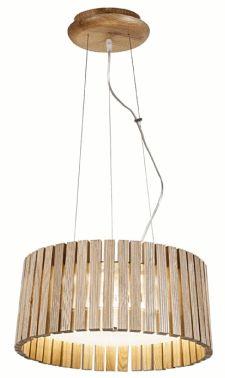lampa z kloszem z drewna Fashion Light - OZCAN 2513-2 JESION