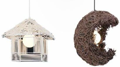lampa z kloszem z drewna Fashion Light - OZCAN 5402 i 5403