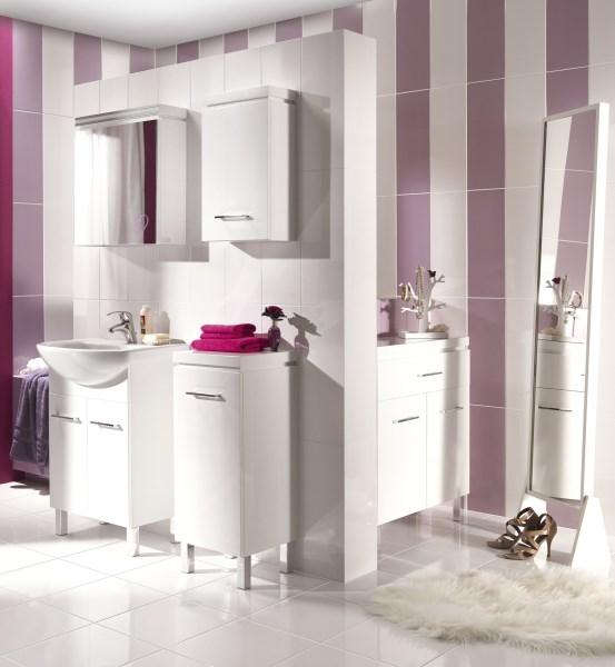 meble łazienkowe białe Cersanit Olivia