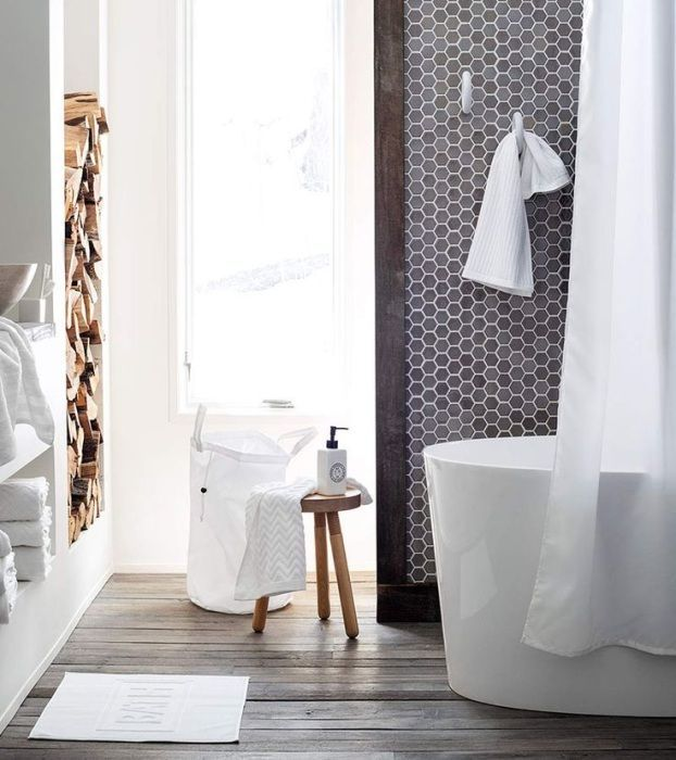 Mozaika w łazience - płytki heksagonalne