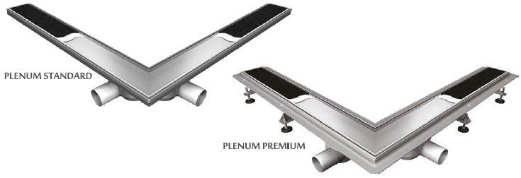 Vabo - odwodnienie kątowe Plenum Premium i Standard