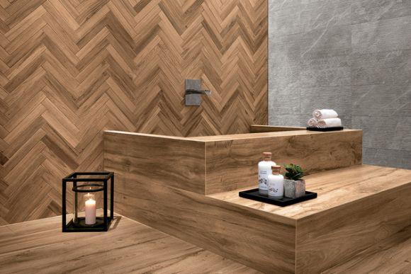 Płytki Imitujące Drewno W łazience Design Ze świata