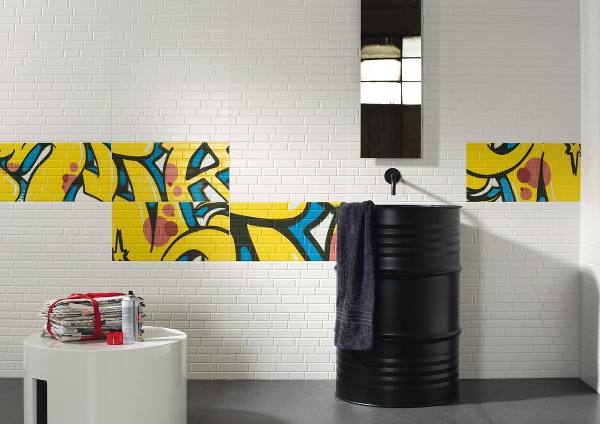 Płytki imitujące graffiti kolekcja Mash-Up Imola Ceramica