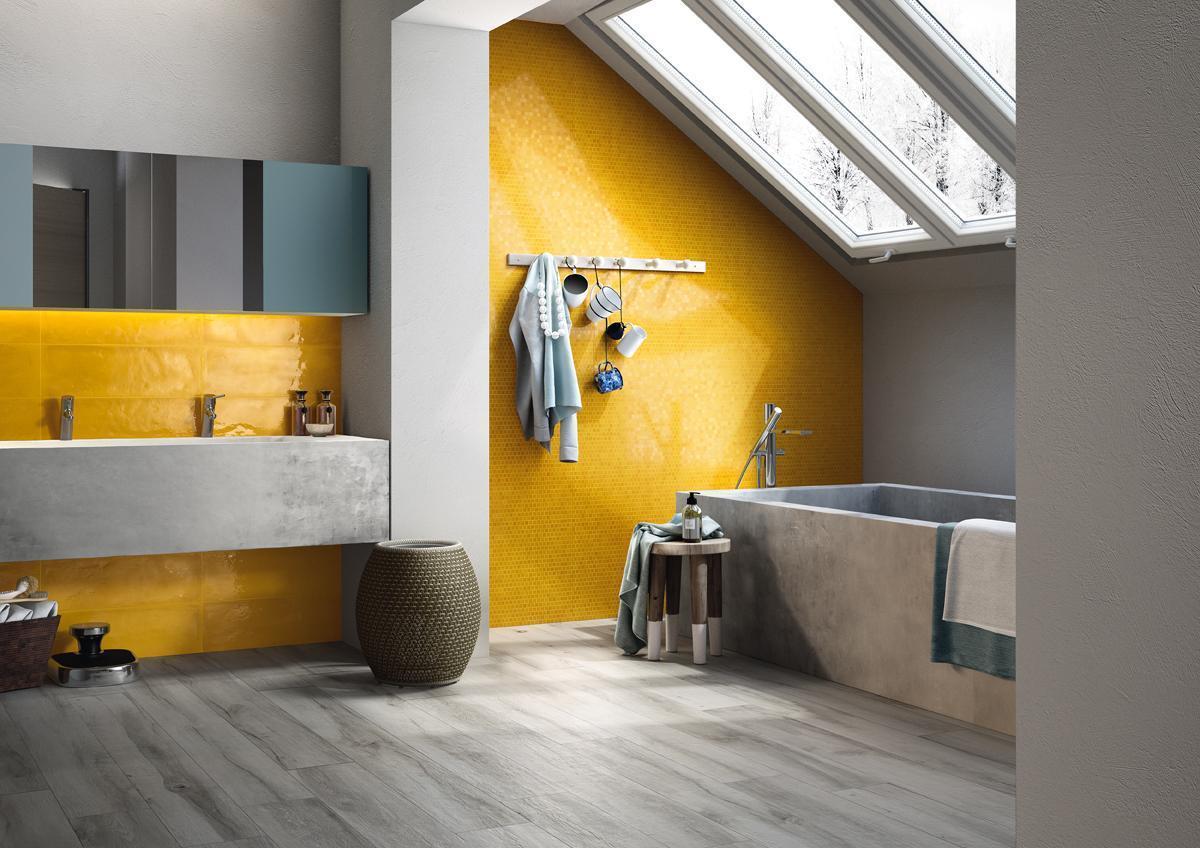 Żółte płytki do łazienki kolekcja Shades Imola Ceramica