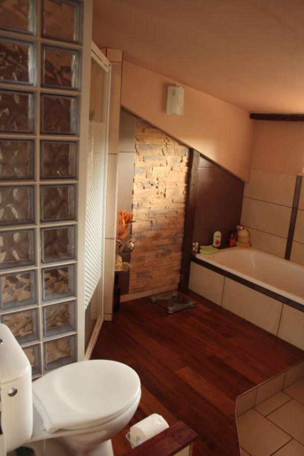 Podłoga w łazience  - łączenie różnych materiałów