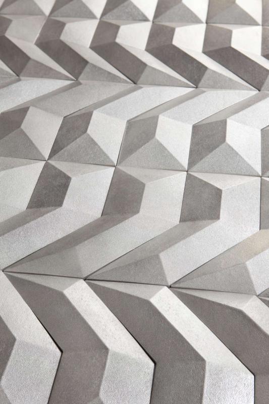 Srebrne płytki tekstura GEN kolekcja Disignio Harmony Peronda