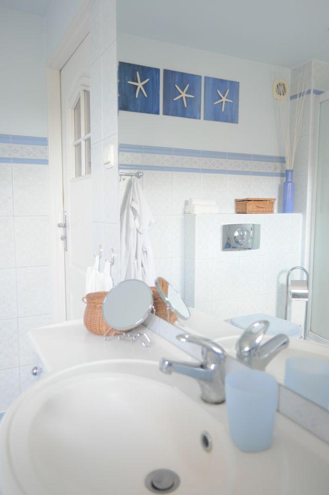 Łazienka w stylu marynistycznym - aranżacja