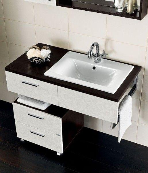 Cersanit - szafka łazienkowa na kółkach