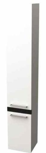Alterna - Szafka wisząca wysoka, laminat biały/wenge