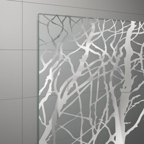 Szkło z chromowanym dekorem