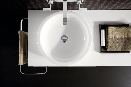 Koło - umywalka blatowa Ego  by Antonio Citterio