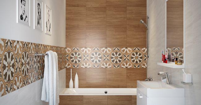 Aranżacja łazienki z gresem szkliwionym Cersanit Gusto
