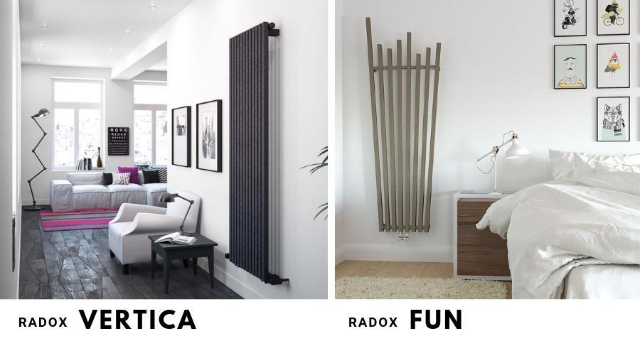 Dekoracyjne grzejniki pionowe Radox Vertica i Radox Fun, dodadzą charakteru wnętrzu