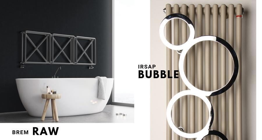 Grzejniki w stylu industrialnym Brem Raw oraz Irsap Bubble doskonale pasują do loftów