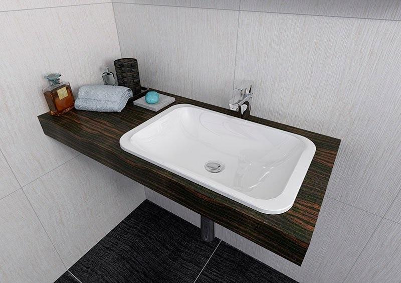 Sapho - umywalka wpuszczana w blat Japura