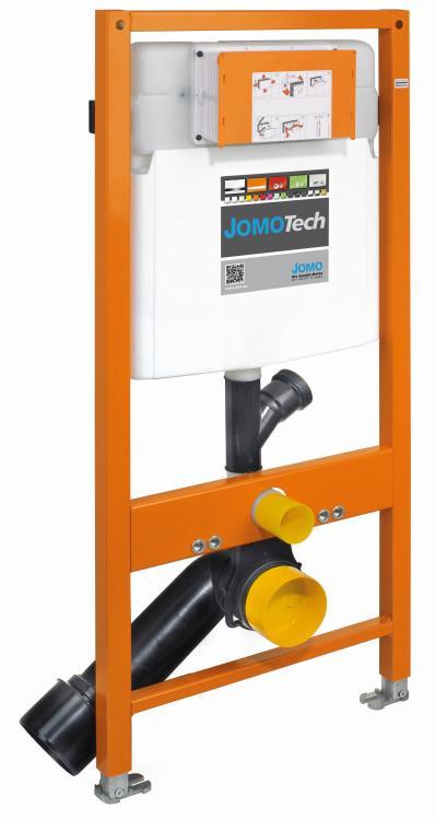 JOMOTech stelaż samodzielny do WC ze spłuczką podtynkową SLK plus ze spłukiwaniem dwudzielnym i odsysaniem zapachów