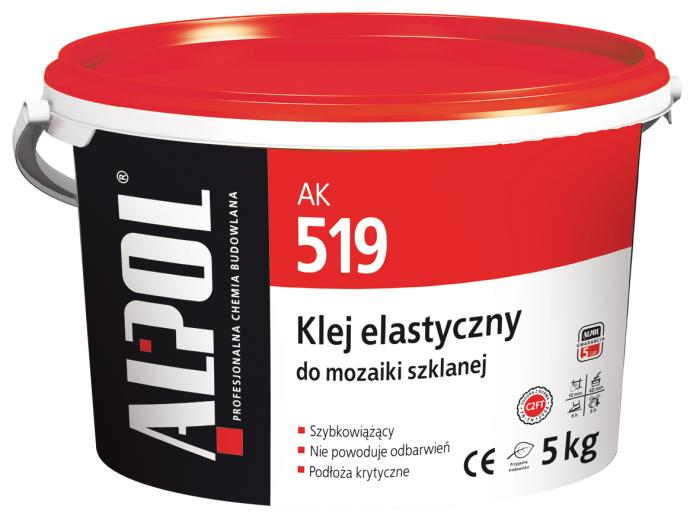 Klej do mozaiki szklanej elastyczny ALPOL AK 519