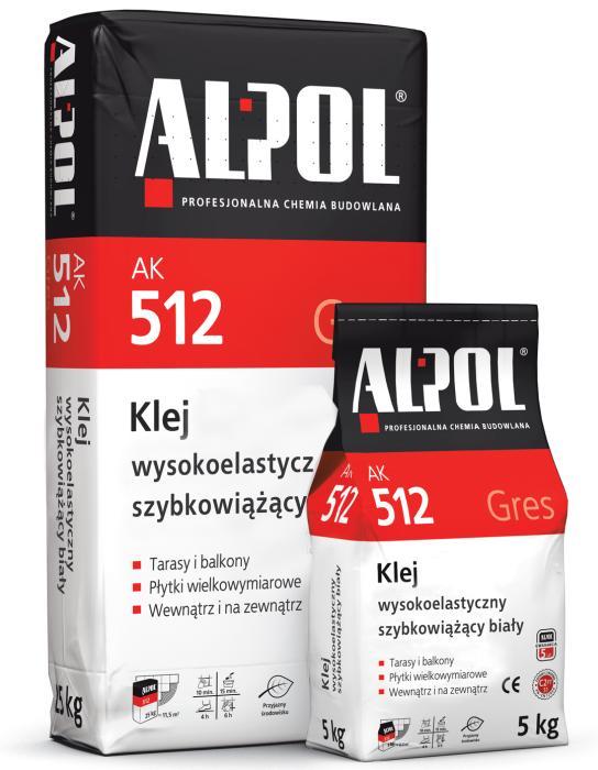 Klej wysokoelastyczny szybkowiążący biały ALPOL AK 512