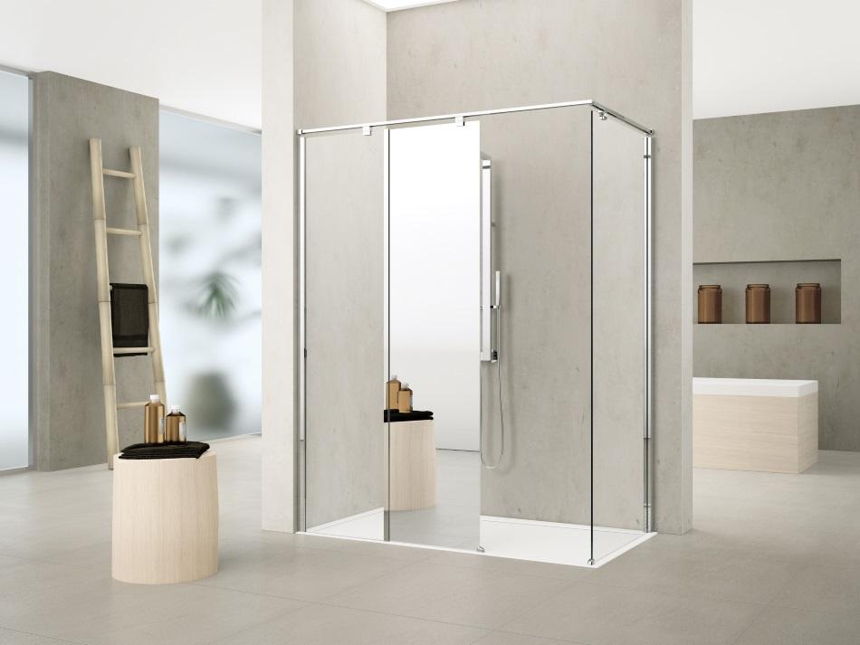 kabina prysznicowa z lustrem - Kuadra H12 Novellini