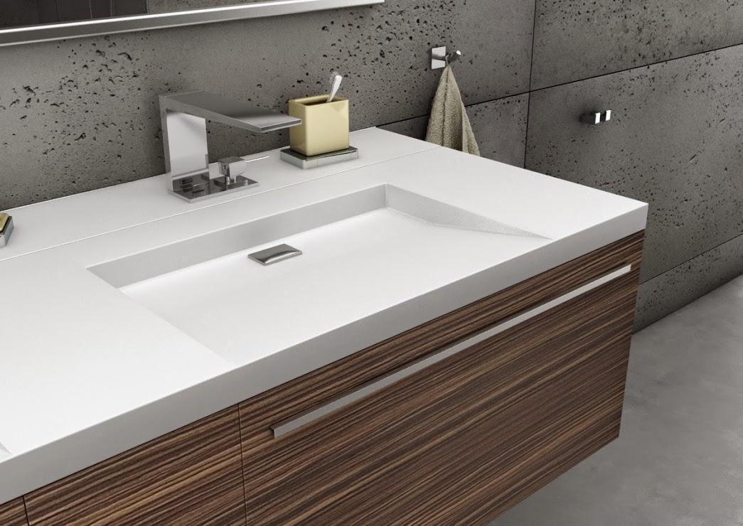 Luxum umywalka z szafką - beton w łazience