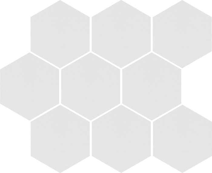 Mozaika heksagon Cambia white lappato