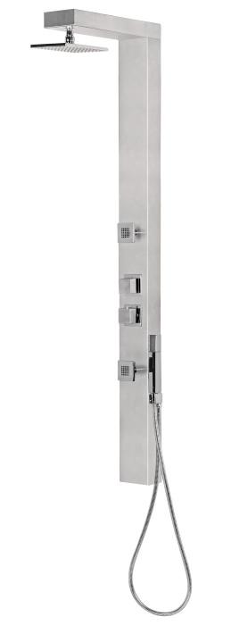Deante - Panel natryskowy z baterią termostatyczną Cubic