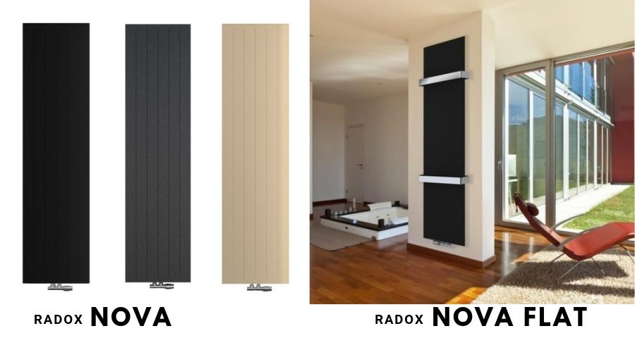 Pionowe dekoracyjne grzejniki płytowe Radox Nova