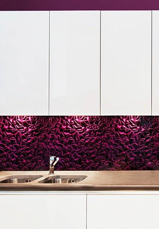 Szklane płytki DUNIN z serii 3D MAZU - Violet Silk