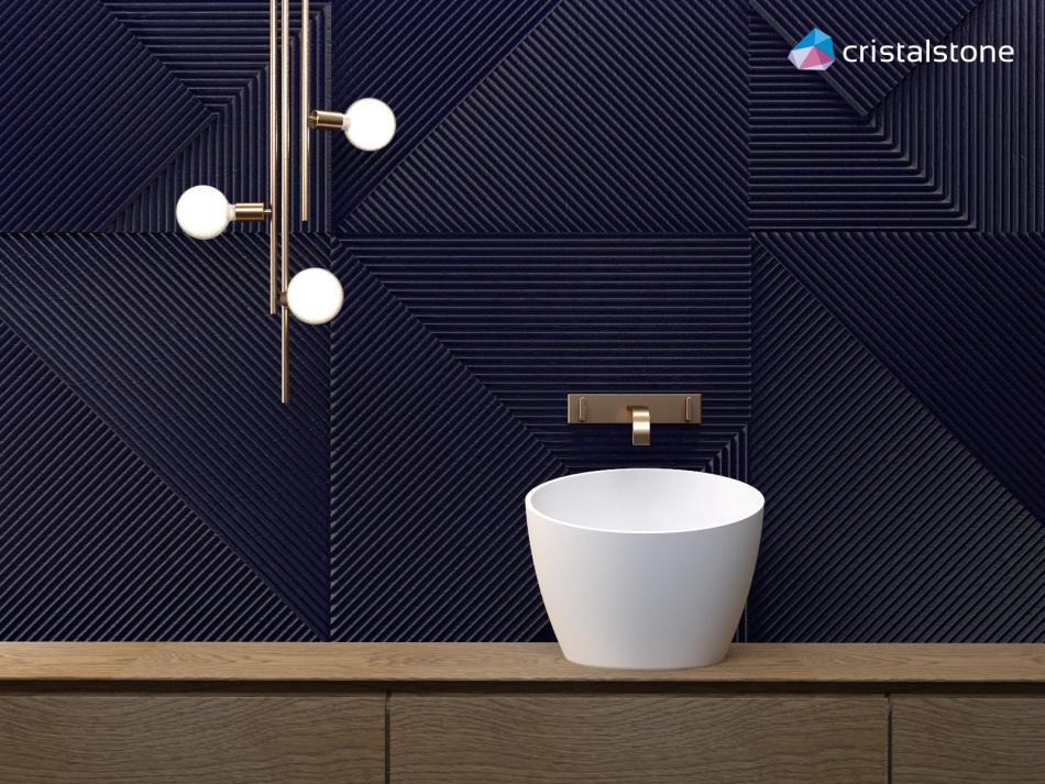 Umywalka nablatowa Cristalstone - Luxum