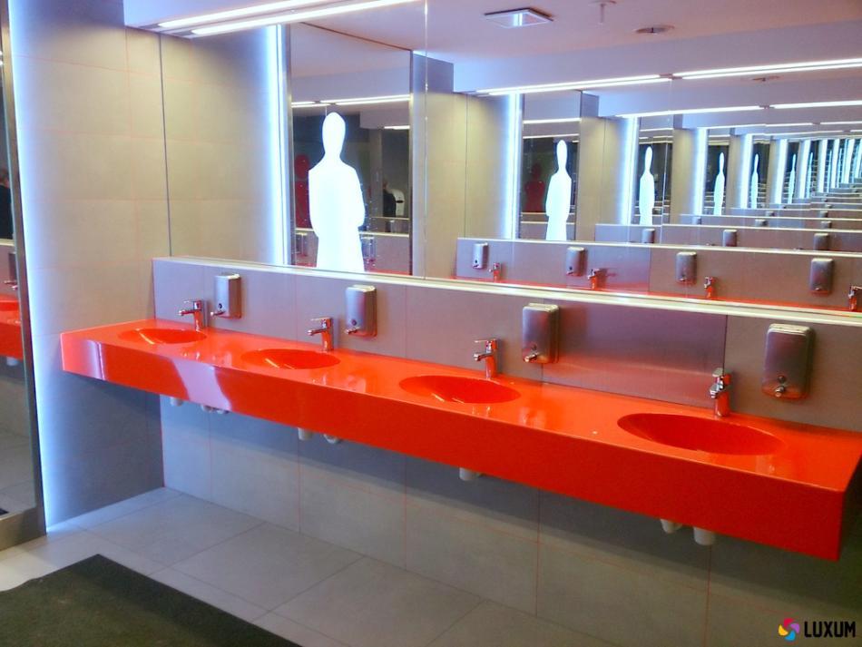 Umywalki wielostanowiskowe do budynków użyteczności publicznej - LUXUM