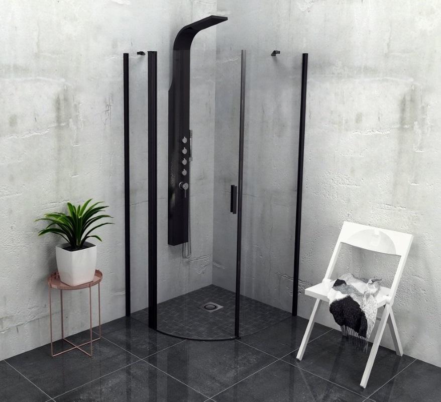 ZOOM LINE BLACK kabina prysznicowa półokrągła marki Polysan - Sapho