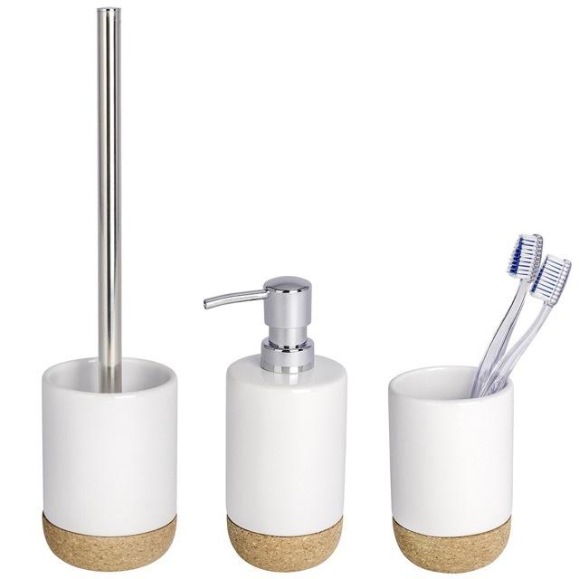 Zestaw akcesoriów łazienkowych CORC WHITE WENKO