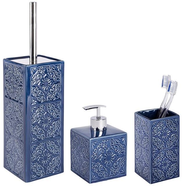 Zestaw akcesoriów łazienkowych CORDOBA DARK BLUE WENKO