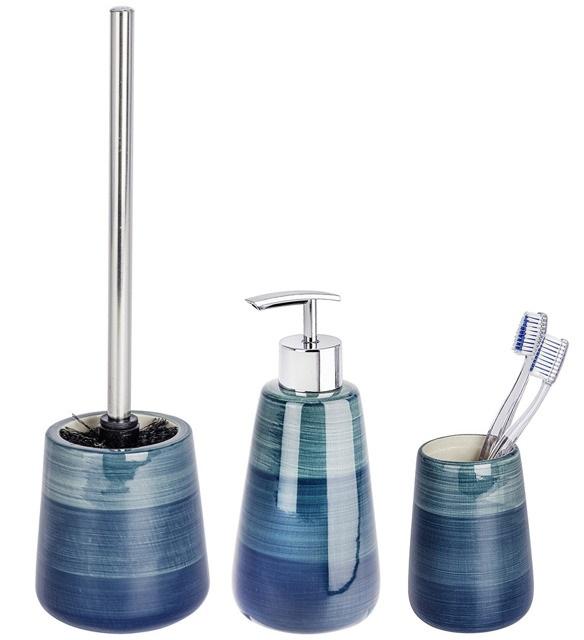 Zestaw akcesoriów łazienkowych POTTERY PETROL WENKO