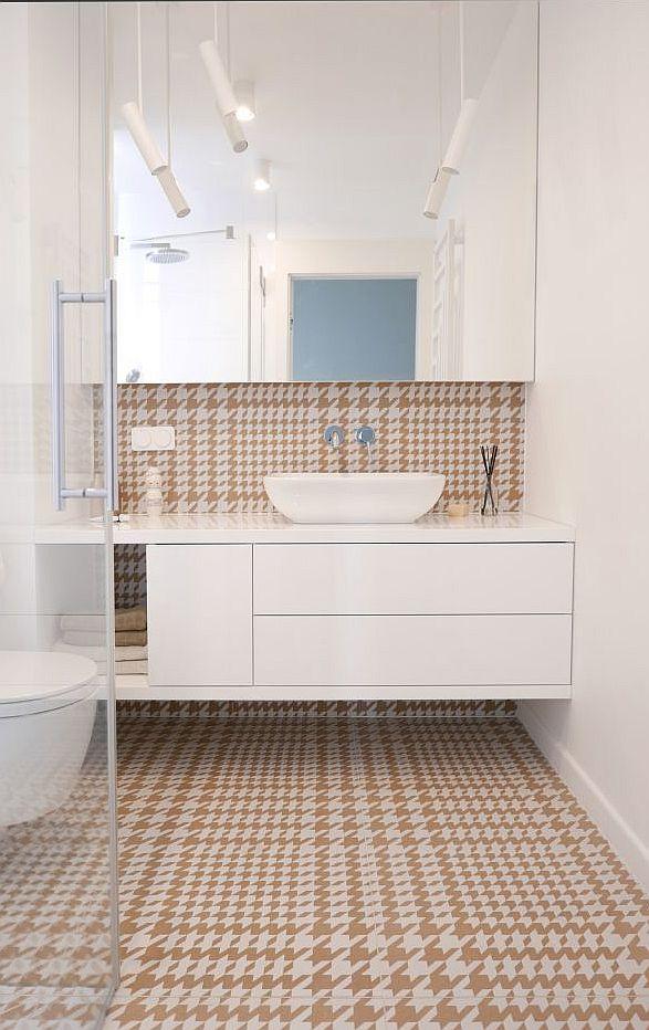 Wzór pepitka w łazience