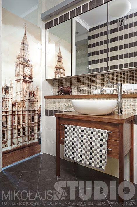 Łazienka z brytyjskimi motywami