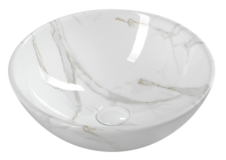 DALMA – umywalki ceramiczne z niebanalnym efektem marmuru