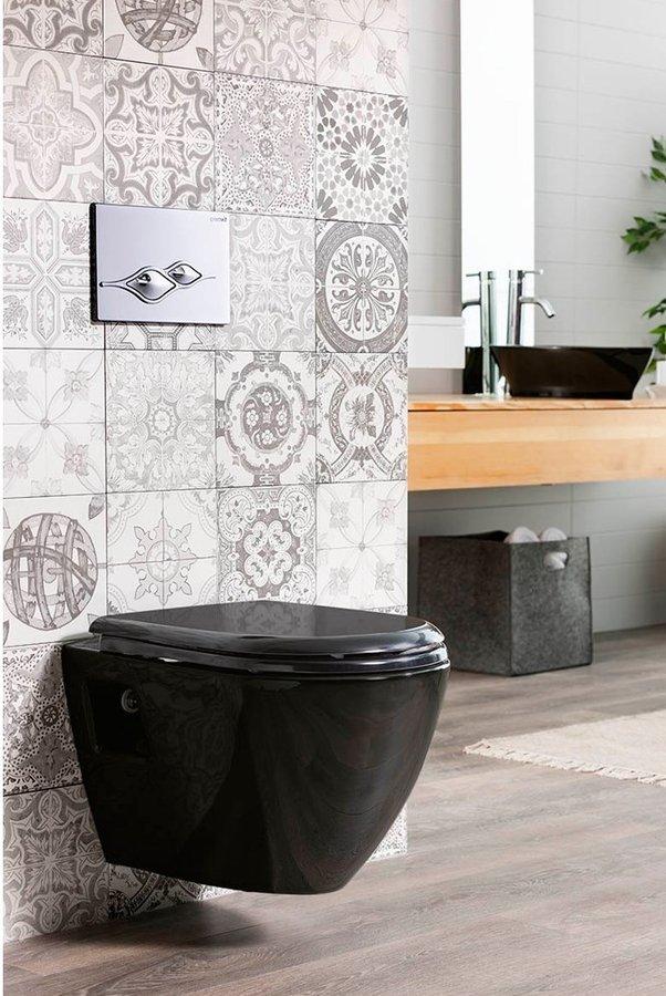 Czarna miska wc